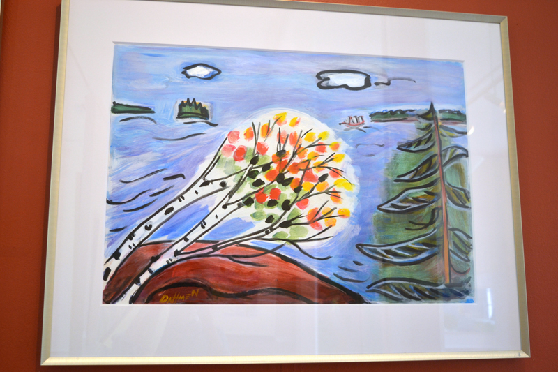 """Windy Day,"" an acrylic painting on paper by Jane Dahmen. (Christine LaPado-Breglia photo)"