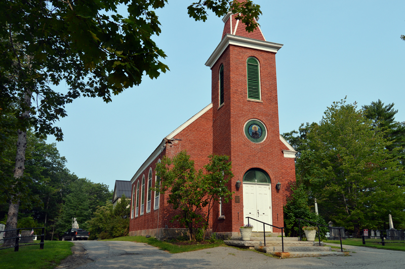 St. Patrick's Church is raising money for restoration work to its 1808 building on Academy Hill Road in Newcastle. (Johanna Neeson photo)