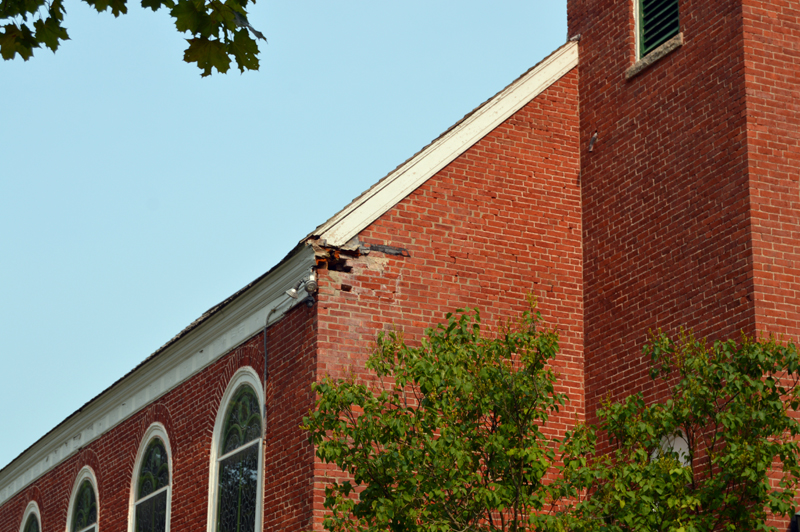 St. Patrick's Church is raising funds for restoration work to the old church, including to repoint bricks and replace the church roof. (Johanna Neeson photo)