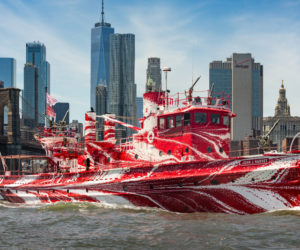 FDNY Fireboat with 'Dazzle' has South Bristol Connection