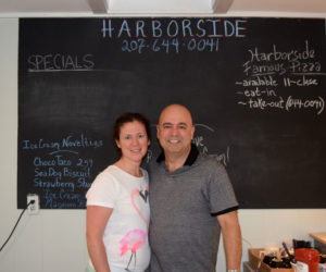 Carolyn and Bill Demase are the new owners of Harborside, a convenience store and restaurant at 2075 Route 129 in South Bristol. The couple bought the store in August 2017 and opened in early July. (Jessica Clifford photo)