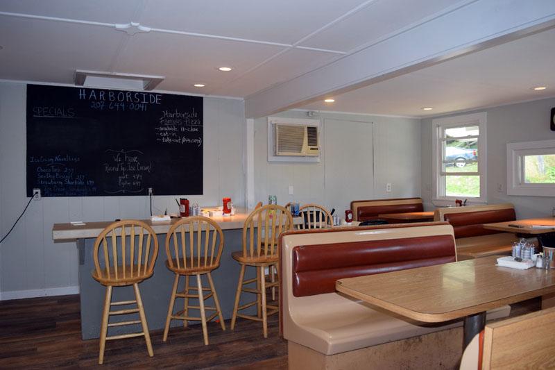 Harborside's dining area. (Jessica Clifford photo)