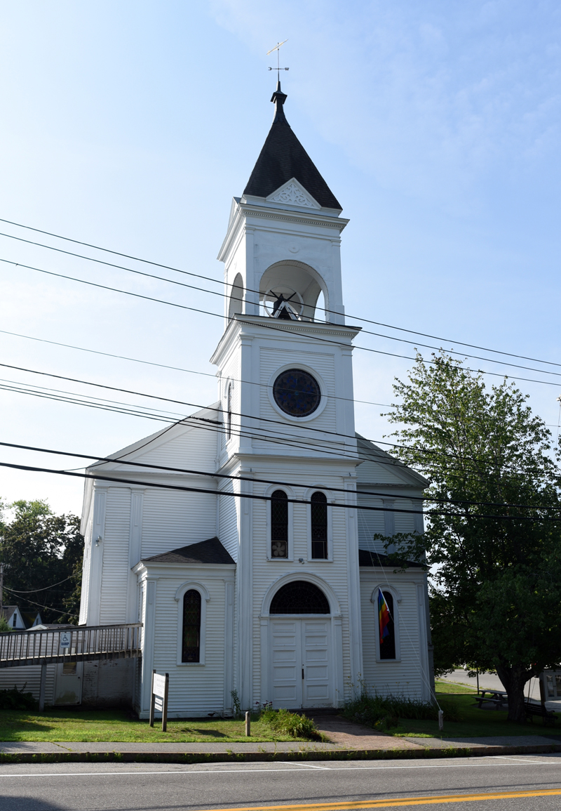Broad Bay Church, in downtown Waldoboro, Wednesday, Aug. 8. The church has begun a $750,000 capital campaign. (Jessica Picard photo)