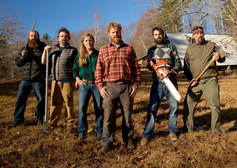 """The people involved with the DIY Network's """"Maine Cabin Masters"""" show."""