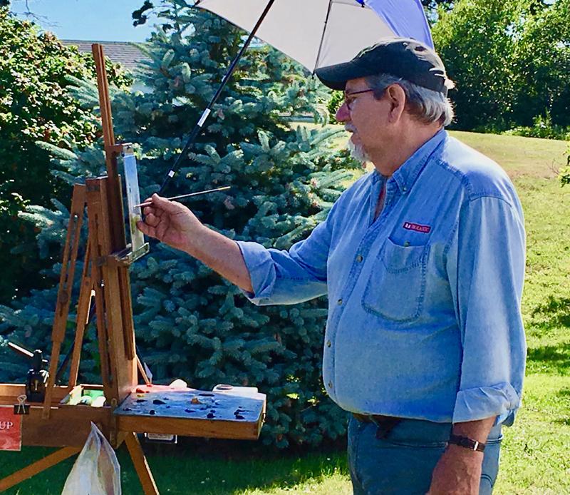 Will Kefauver paints en plein air.