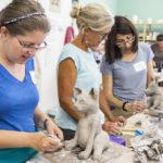 K-12 Teachers Sculpt Animals at Watershed Workshop