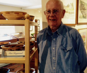 Woodturner Raymond at Saltwater Artists Gallery