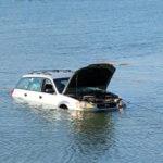 Tide Takes Subaru into Pemaquid Harbor