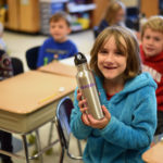 GSB Students Receive Water Bottles to Reduce Plastic Use