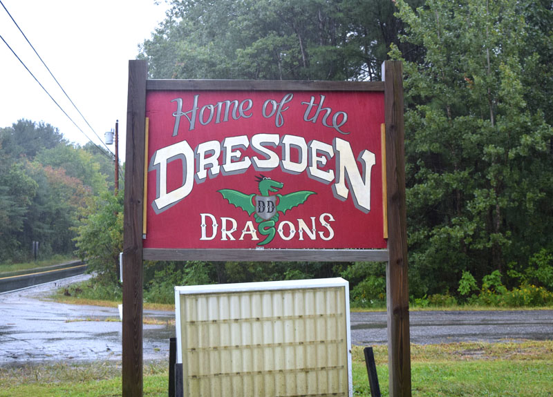 The new Dresden Elementary School sign. (Jessica Clifford photo)