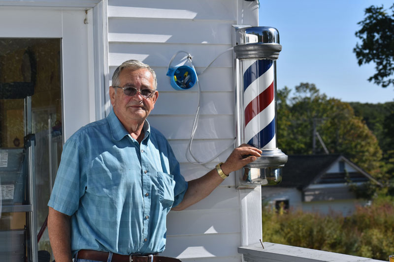Bruce Soule at the location of his new barbershop, at 617 Bremen Road in Waldoboro. The barbershop will open Friday, Sept. 21. (Alexander Violo photo)