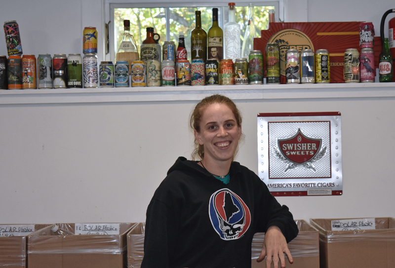 Caitlyn Butler is the manager of Corner Redemption Center in Waldoboro, open 9 to 5 p.m. every day except Thursday and Sunday. (Alexander Violo photo)