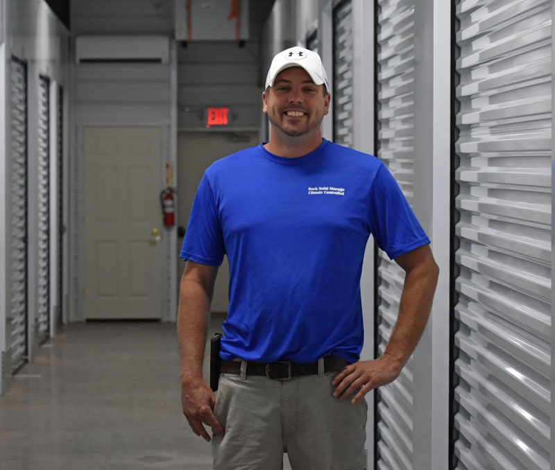 Ben Ellinwood, of Rock Solid Storage, inside his new climate-controlled storage facility in Waldoboro. (Alexander Violo photo)