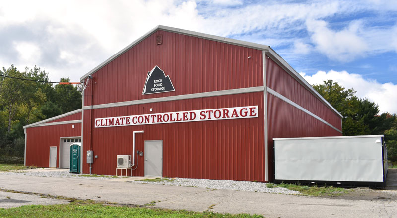 Rock Solid Storage's climate-controlled facility on Winslows Mills Road in Waldoboro. (Alexander Violo photo)