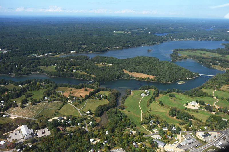 The upper Damariscotta River and Great Salt Bay from above, Monday, Sept. 17. (Jessica Picard photo)
