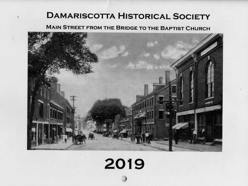 The cover of the 2019 Damariscotta Historical Society calendar.