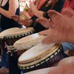 Inaugural Drum Circle at River Arts