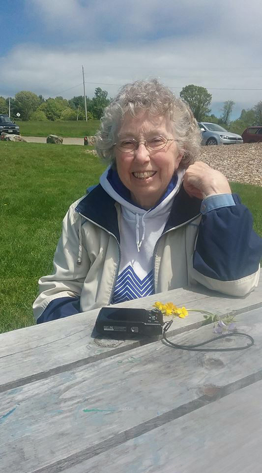 Carolyn Blouin at the Damariscotta River Association's Great Salt Bay Farm.