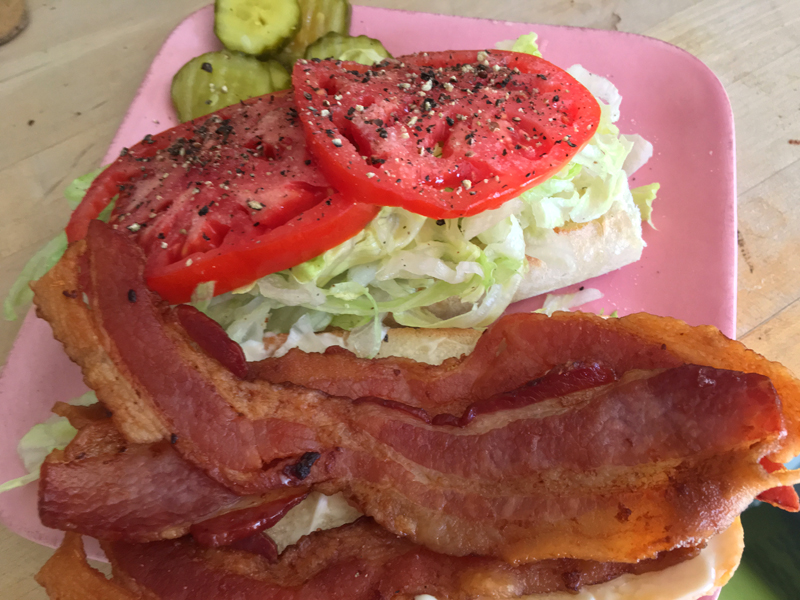 A BLT, before it's slapped together. (Suzi Thayer photo)