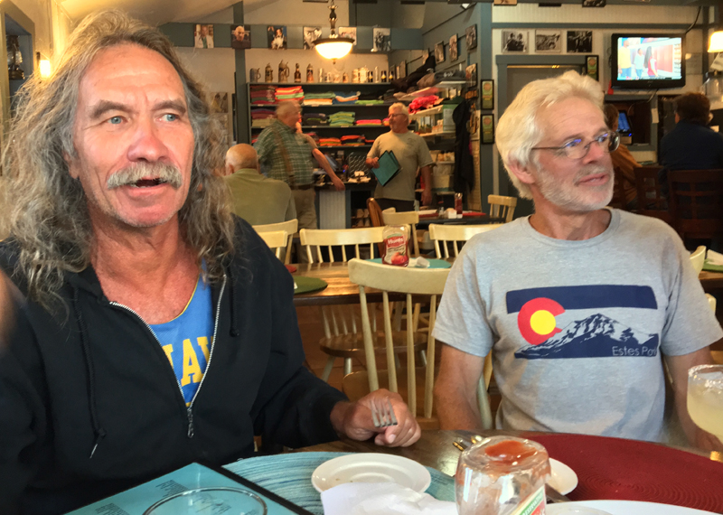 Jeff Brown (left) and Pete Thayer at the Happy Clam in Tenants Harbor. (Suzi Thayer photo)