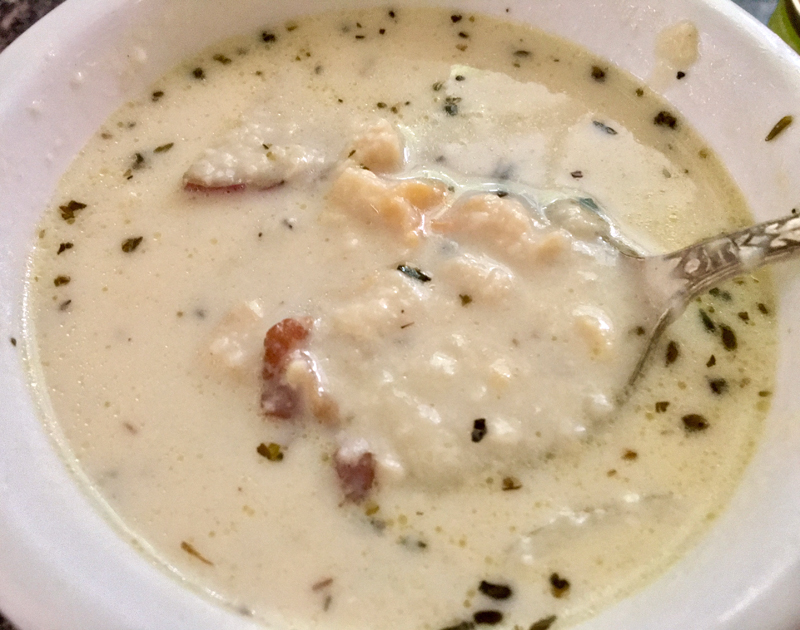Bob Maroon's famous Chowder House clam chowder is awesome! (Suzi Thayer photo)