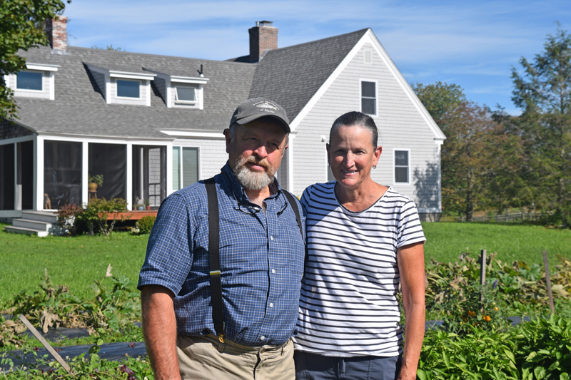 Don and Marcia Lyon own SeaLyon Farm on Route 218 in Alna. The Lyons are members of the United Farmer Veterans of Maine. (Jessica Clifford photo)