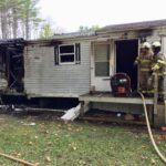 Fire Destroys Damariscotta Mobile Home, Owner and Dog Safe