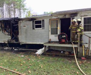 Fire Destroys Damariscotta Mobile Home, Owner and Dog Safe