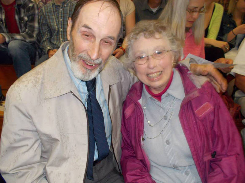 Charles and Carolyn Blouin attend the graduation of their granddaughter, Mary Catherine Eddyblouin, from Lincoln Academy in 2013. (Photo courtesy Allison Eddyblouin)