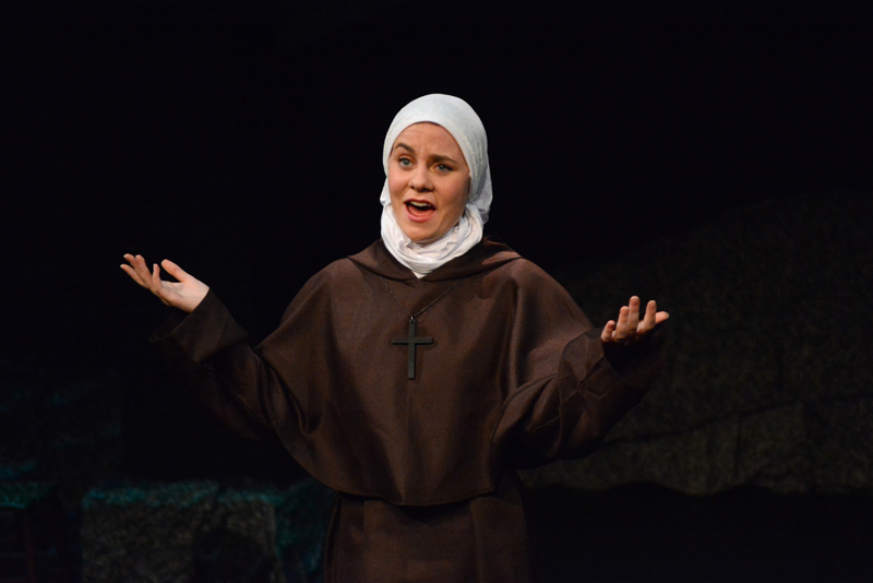 "LA student Kayleigh Tolley as Sister in ""Man of La Mancha."" (Photo courtesy Jenny Mayher)"