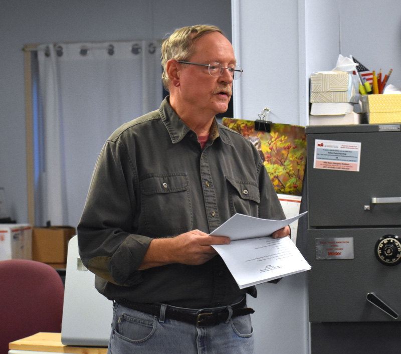 Somerville Emergency Management Director David Greer discusses the Federal Emergency Management Agency's withholding of $20,000 in reimbursement for storm damage. (Alexander Violo photo)