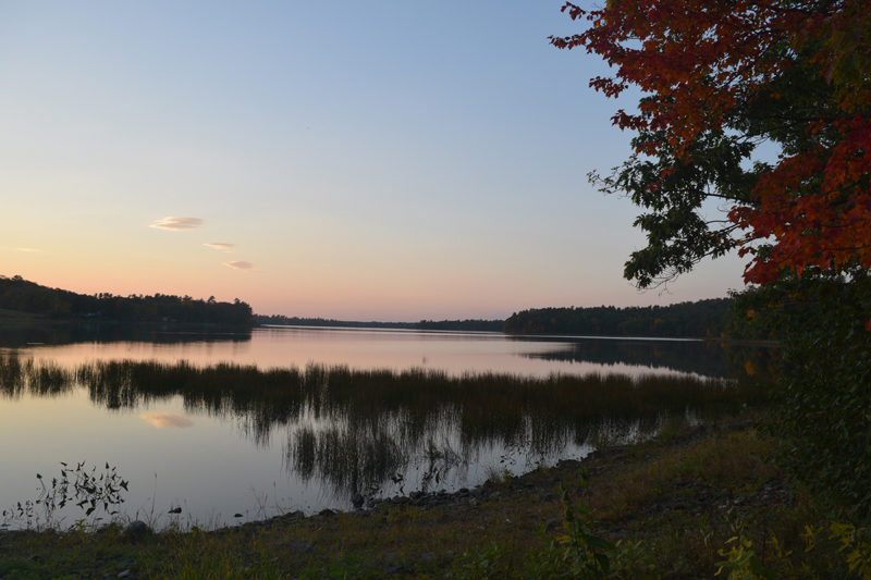 Clary Lake. The Clary Lake Association expects to complete its purchase of the Clary Lake Dam on Friday, Oct. 12 and begin work to restore the lake's water level. (Jessica Clifford photo)