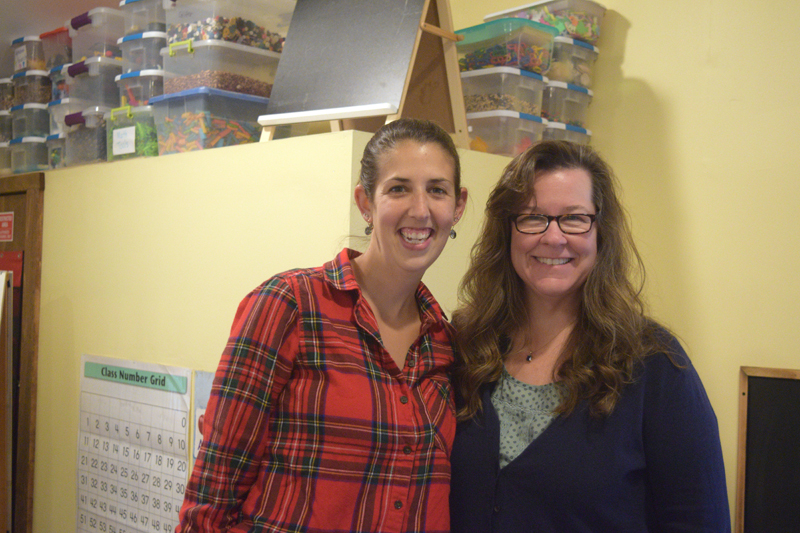 Brandi Grady (left) and Melissa Vallieres are the founders and owners of Sheepscot Valley Hinterland Preschool. They have 10 and 18 years of experience in education, respectively. (Jessica Clifford photo)