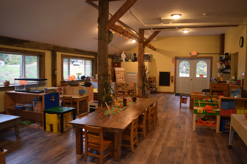 Inside the Sheepscot Valley Hinterland Preschool. The preschool accepts children ages 40 months to 6 years. (Jessica Clifford photo)