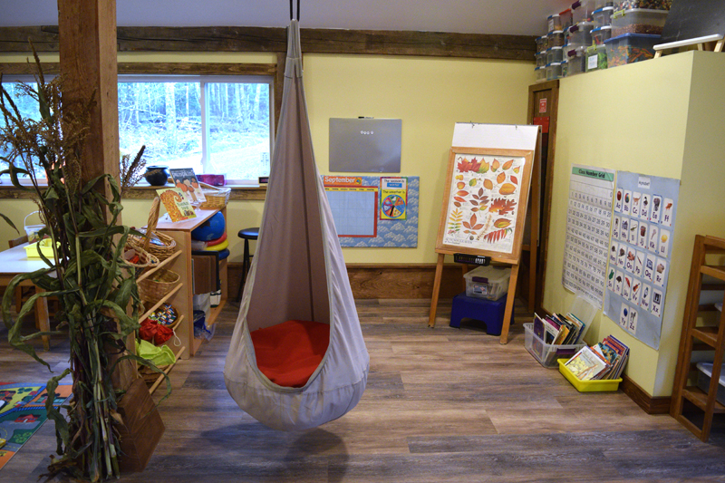 Inside the Sheepscot Valley Hinterland Preschool. Owners and teachers Melissa Vallieres and Brandi Grady hope to enroll 20 students. (Jessica Clifford photo)