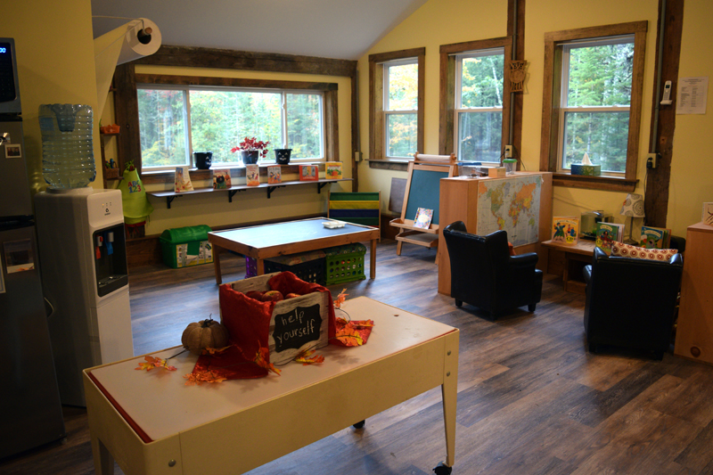 A play area for students at Sheepscot Valley Hinterland Preschool. (Jessica Clifford photo)