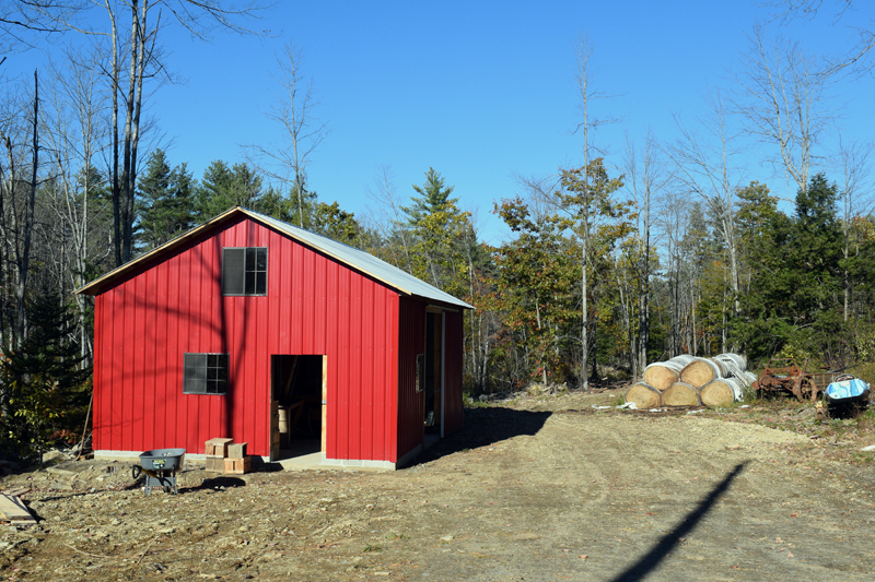 The barn home to Miller's Custom Apple Pressing. (Jessica Clifford photo)