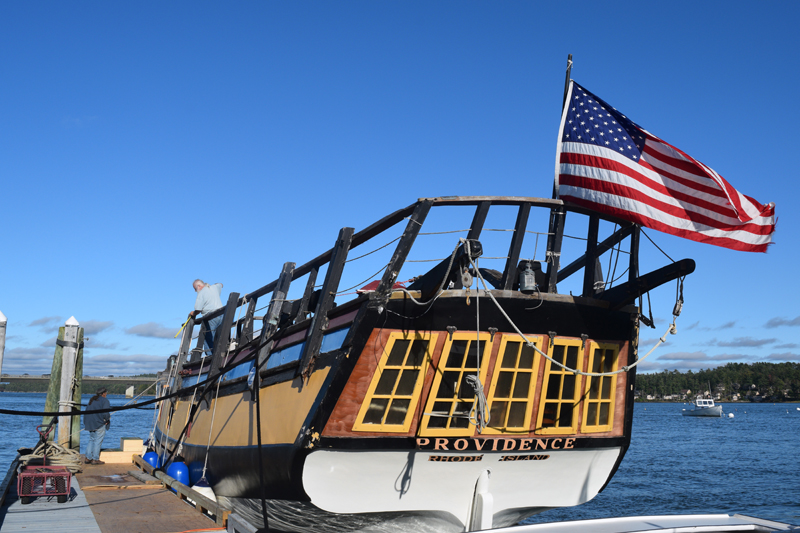 "The Providence, a replica of a Revolutionary War sloop, starred in Disney's ""Pirates of the Caribbean: Dead Man's Chest"" and ""Pirates of the Caribbean: At World's End."" (Jessica Clifford photo)"