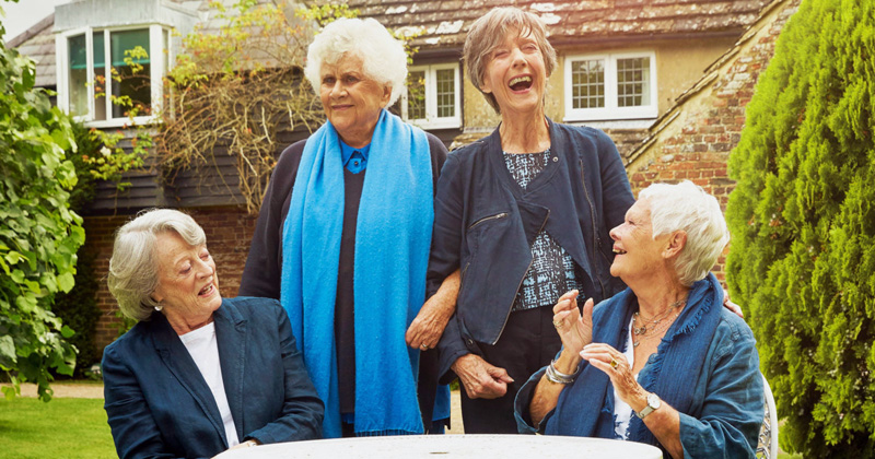 "From left: ""Tea with the Dames"" stars Maggie Smith, Joan Plowright, Eileen Atkins, and Judi Dench."