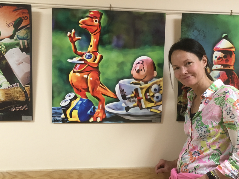 Judy Bernier, of Waldoboro, is the current artist showing work in the hall gallery at LincolnHealth – Miles Campus.