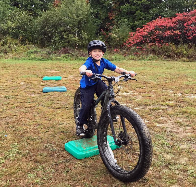 Having fun on a fat-tire bike.