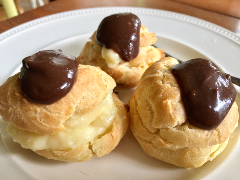 Cream puffs, or profiteroles, are wicked elegant. (Suzi Thayer photo)