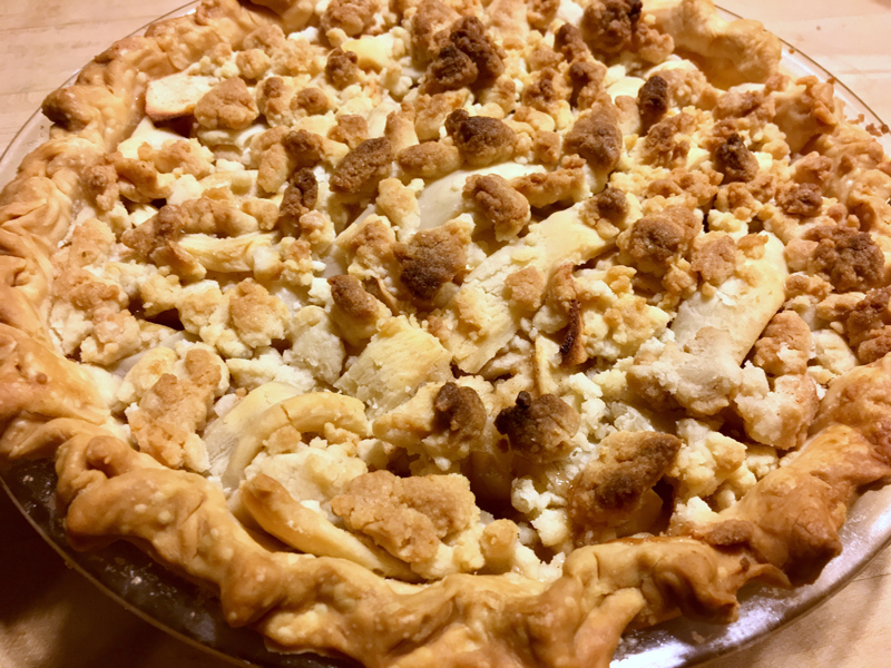 A whole apple crispie hot out of the oven. (Suzi Thayer photo)