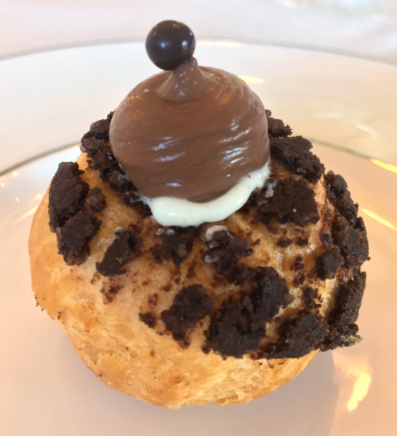 One of pastry chef Alex Tallen's exquisite cream puffs. (Suzi Thayer photo)