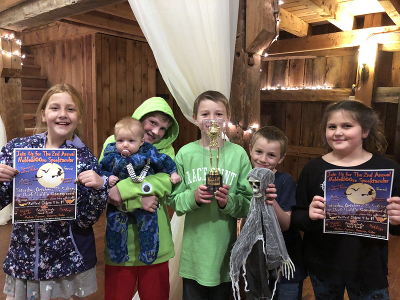 From left: Lilly LaBrie, Oliver Blakesley holding Ida Morgner, Phin Hansbury, Eamonn Hansbury, and Josephine Shea.