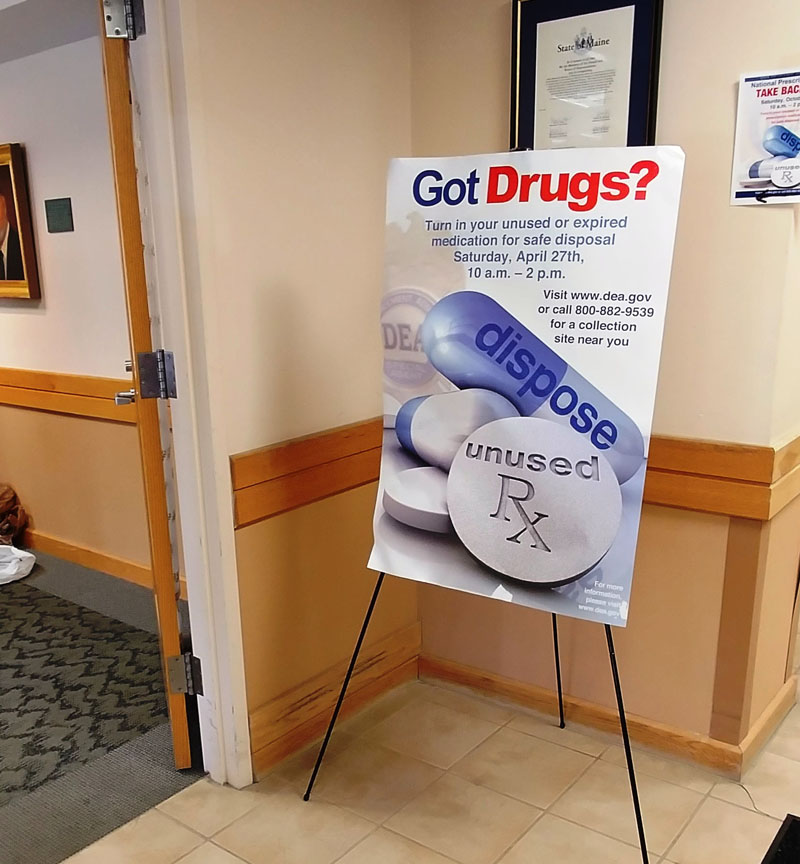 On Saturday, Oct. 27 from 10 a.m.to 2 p.m., the Lincoln County Sheriff's Office and the police departments of Boothbay Harbor, Damariscotta, Waldoboro, and Wiscasset will host the semiannual National Prescription Drug Take-Back Day.