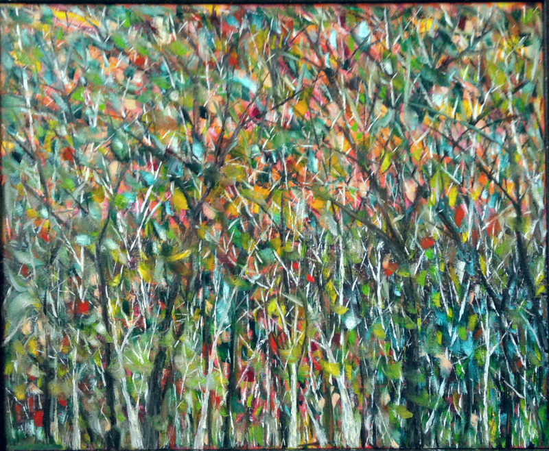 """""""Trees,"""" an oil painting by Cory Stafford."""