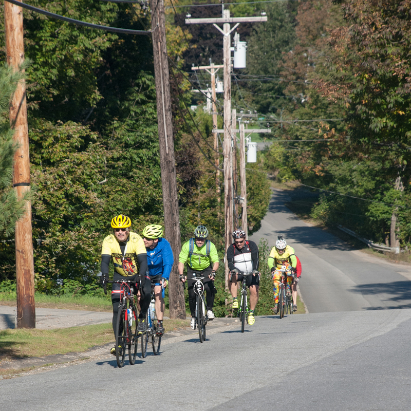 Share the Road with Carol is a memorial bike ride in Windsor and Whitefield held to honor the memory of Dr. Carol Eckert and to promote the cause of bicycle safety. (Photo courtesy Jeffrey Frankel)