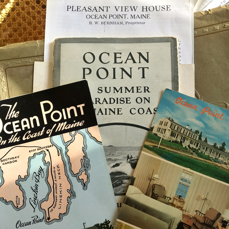 Ocean Point Inn flyers from over the years. The name of the inn was once Pleasant View House, as in the flyer at top.