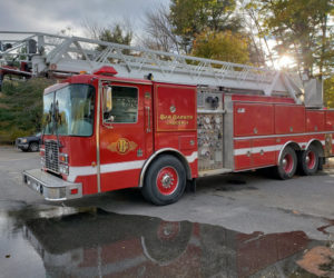 The town of Dresden is considering whether to buy this 1994 ladder truck. (Photo courtesy Steve Lilly)